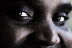 afrykanin oczy kobiety Obrazy Royalty Free
