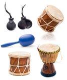 Afrykanin perkusja i bębeny Obrazy Stock