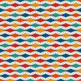 Afrykanin powierzchni stylowy bezszwowy wzór z abstrakcjonistycznymi postaciami Jaskrawy etniczny druk geometryczny tła ornamenta ilustracja wektor