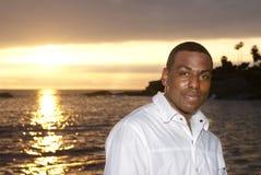 afrykanin przeciw mężczyzna amerykańskiemu zmierzchowi Obraz Stock