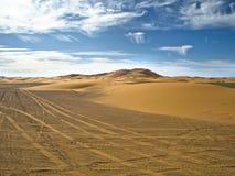 Afrykanin pustynia - erg Pyzaty Obrazy Royalty Free