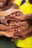 Afrykanin ręki wpólnie Fotografia Stock