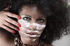 afrykanin robi stylowy up Zdjęcie Royalty Free