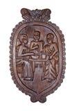 Afrykanin rzeźbiący ornamentacyjny drewniany przedmiot Obrazy Royalty Free