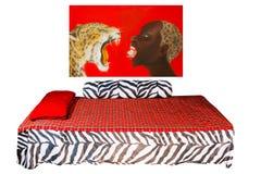 Afrykanin stylowa sypialnia Fotografia Stock