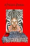 Afrykanin stylowa sypialnia Obrazy Royalty Free