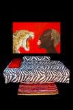 Afrykanin stylowa sypialnia Zdjęcia Royalty Free