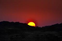 Afrykanin Sun Ustawiający Fotografia Stock