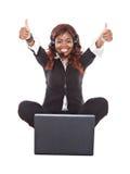 afrykanin szczęśliwy Zdjęcie Royalty Free