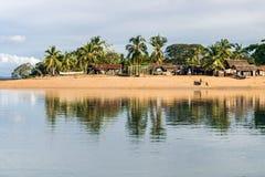 Afrykanin typowa wioska Zdjęcia Royalty Free
