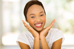 afrykanin zdziwiona kobieta Obraz Royalty Free