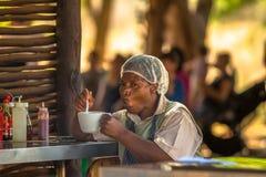 Afrykanina łasowania kucbarska polewka Fotografia Royalty Free