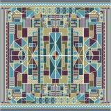 Afrykanina Constructionism Barwiony tło Zdjęcia Royalty Free