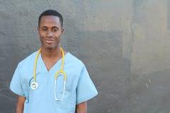 Afrykanina doktorski portret z kopii przestrzenią Obrazy Stock