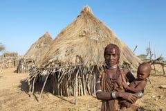 Afrykanina dziecko i matka Obraz Stock