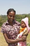 Afrykanina dziecko i matka Obrazy Stock