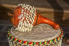 Afrykanina Ghana Shekere bęben Obrazy Royalty Free