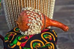 Afrykanina Ghana Shekere bęben Obraz Stock