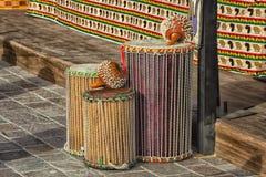 Afrykanina Ghana Shekere bębeny Fotografia Stock