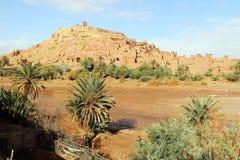 Afrykanina kasztel - Kasbah, Ksar Ait Ben Haddou Zdjęcie Royalty Free