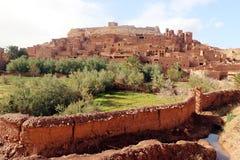 Afrykanina kasztel - Kasbah, Ksar Ait Ben Haddou Obraz Stock