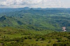 Afrykanina krajobraz. Etiopia Zdjęcia Royalty Free