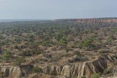 Afrykanina krajobraz, małe góry na oceanie sunie Obraz Stock