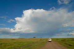 Afrykanina krajobraz, Masai Mara, Kenja - na safari Obrazy Royalty Free