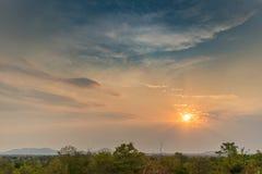 Afrykanina krajobraz w Lubango, Angola z górami i dramatycznym, Zdjęcia Royalty Free