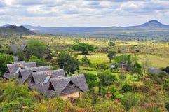 Afrykanina krajobraz z stróżówką Obrazy Stock