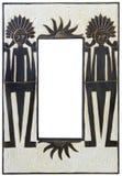 Afrykanina Lustro stylowy drewniany Fotografia Stock