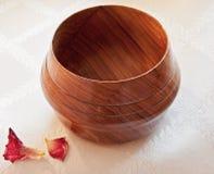 Afrykanina Mopani Drewniany puchar Fotografia Royalty Free