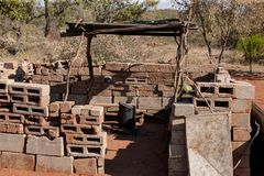 Afrykanina outdoors kuchnia Fotografia Royalty Free