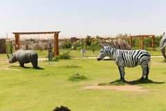 Afrykanina park przy Aswan, Egipt Zdjęcie Royalty Free