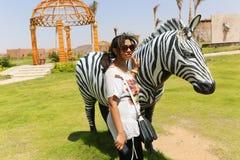 Afrykanina park przy Aswan, Egipt Obrazy Royalty Free