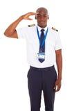 Afrykanina pilota salutować Obrazy Stock