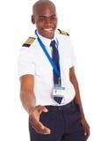 Afrykanina pilotowy uścisk dłoni Zdjęcia Stock