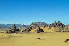 afrykanina pustyni krajobraz Obrazy Royalty Free