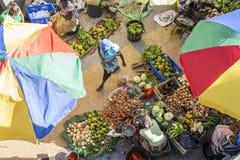 Afrykanina rynek, Assomada, Santiago wyspa, Obrazy Stock