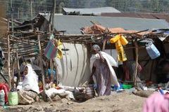 Afrykanina rynek Debark w Etiopia Zdjęcia Royalty Free