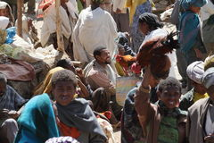 Afrykanina rynek Debark w Etiopia Fotografia Royalty Free