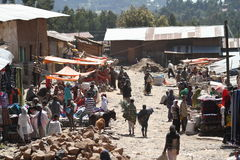 Afrykanina rynek Debark w Etiopia Obraz Royalty Free