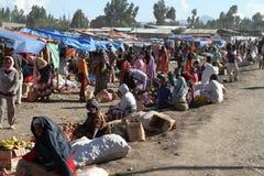 Afrykanina rynek w Etiopia Fotografia Stock