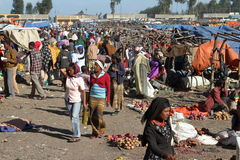 Afrykanina rynek w Etiopia Fotografia Royalty Free
