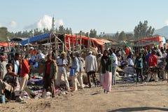 Afrykanina rynek w Etiopia Obrazy Stock