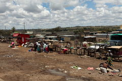 Afrykanina rynek w Kenja Obrazy Royalty Free