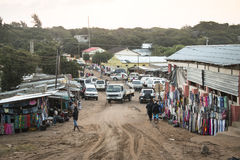 Afrykanina rynek w Punta robi Ouro, Mozambik Zdjęcie Royalty Free