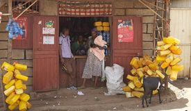 Afrykanina sklep Zdjęcia Royalty Free