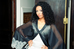 afrykanina smokingowa mody modela przyjęcia kobieta Fotografia Royalty Free