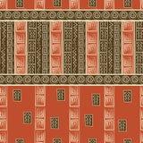 afrykanina styl deseniowy bezszwowy royalty ilustracja